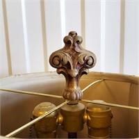 Vintage Wooden Floor Lamp & Bridge Lamp