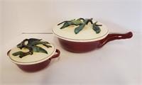 Vintage California Style Ceramic Soup Set