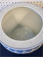 Pair Large Blue & White Chinese Porcelain Planters