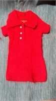 """Red cable knit polo size XXS. XS=8"""" reg $64"""