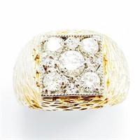 $4700 1 Carat Diamond & 14k Gold Men's Ring