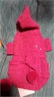 "Knit pink sweater w/ beads & sequins L=16"" Reg $75"