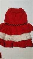 """Knit red & white dress XXS = 6"""", S= 10"""", M= 14"""""""
