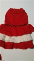 """Knit red & white dress S= 10"""""""