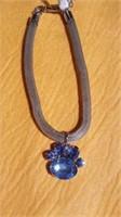 10 Doggy necklaces blue paw S/M/L. reg $15 ea