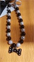 2 Blk/Wt doggy necklaces .reg $15 ea