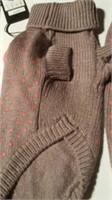 Grey knit sweater pink with polkadot/pompoms Reg