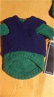 "Blue/green knit sweater XL,  XL  = 19"" Reg"