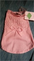 """Pink knit dress with extra pearls XS M=15"""" Reg $60"""