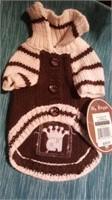 "Brown knit cardigan S,  S = 10"" Reg $38"