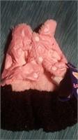 Cute pink/black coat XS Reg $40