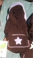 Black hoodie blue earmuffs S Reg $22