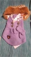 "Mauve coat w/ fur collar  Reg $65 size 3=9.5"""