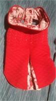 """Red floral coat S=11""""  Reg $46"""