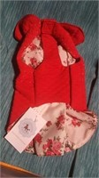 "Red floral coat XS=10""  Reg $46"