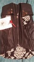"""Black leatherette coat size 4 size 3=9.5"""""""