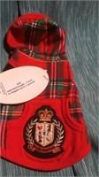 Teeny red plaid coat Reg $52