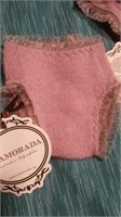 Italian handmade wool mauve undies L Reg $65