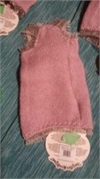 "Italian handmade wool mauve top S s=8.5"" reg$105"