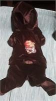 Black velour lounge suit XS Reg $105