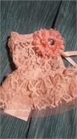 """Pink lace dress xs=7"""" Reg $30"""