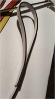 "1- 3 ft BLACK leather leash 1/2"" wide Reg $70"