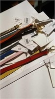 """1- 3 ft leather SILVER leash 1/2"""" wide Reg $70"""