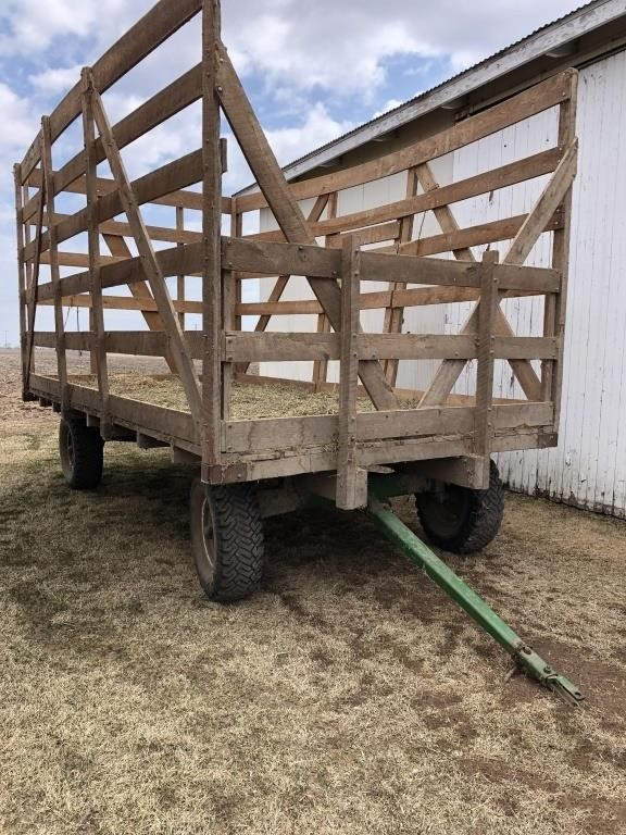 16' Hay Thrower Wagon On A J.D. Running Gear