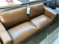 Hanson Society den leather sofa brown MSRP $999