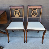 Mahogany Drop Leaf Dining Table & 4 Chairs