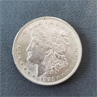 Two 1921 & One 1921-S US Morgan Silver Dollars