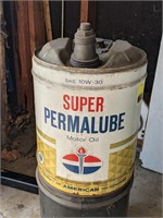 AMOCO Super Permalube Can and Unmarked Can