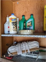 Cabinet of Auto and Gardening Supplies