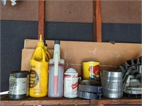 Shelf of Auto and Gardening Supplies