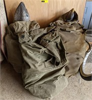 Military Canvas Bags Filled w/ Plastic Duck