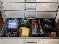 Adrian Steel Locking Metal Parts Cabinet w/