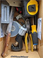 Lot of Tools. Pipe Cutter, Hole Saws, Tape