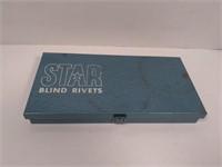 Vtg STAR Blind Rivet Tool Set in Metal Case