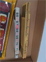 Flat w/Tape Measures, Torpedo Levels & Chalkline