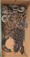 Box of Bicycle Chains and Parts