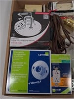 Flat of Various Electrical Supplies-Outlets,
