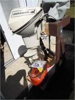 Johnson 9 1/2hp Sea Horse outboard motor w/ fuel t