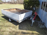 6' x 8' snowmobile type trailer w/ removable wood