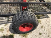 YUTRAX4' UTILITY TRAILER- ATV TIRES, TILT BED