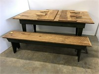 Modern Farm table with bench