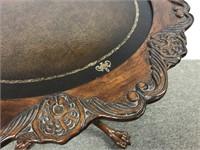 Carved mahogany table