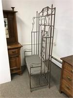 Modern metal hallway seat