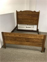 Refinished oak bed