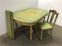Painted vintage table and chair