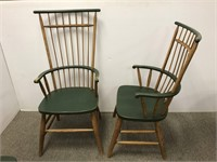 Set of four modern Windsor armchairs